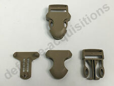 "1"" ITW Side Release Surface Mount Surmount Military Pouch Replacement Buckle TAN"