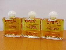 ( lot of 3) Opium By Vintage Yves Saint Laurent Perfume Women 3,5 ml/ 01 MINI X3