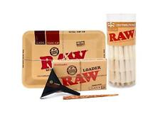 RAW Organic 1 1/4 Cones (75) with Mini RAW Tray and Lean Loader