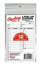 Rawlings System-17 Line-Up Cards (12 cards) for Baseball / Softball New in Pack