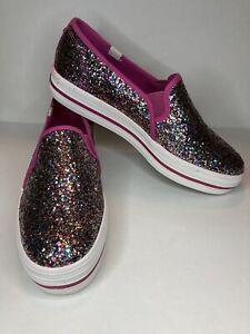 Keds Kate Spade Women's 8 Triple Decker Multi Glitter Slip On Sneakers