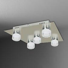 wofi LED Ceiling Light Lorient 5 Arms Nickel Chrome 30x30 20 Watt 2000 Lumens