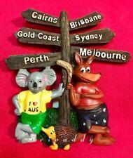 12 Australian Sydney Melbourne Souvenir Kangaroo Koala Signs Post Fridge Magnets
