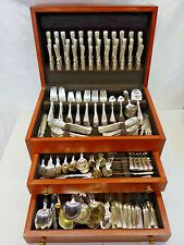 Shell by Gorham Silverplated Flatware Set Service Massive 417 Pieces Monogram P