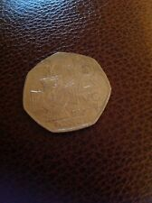 > VICTORIA CROSS 50p collectible used coin