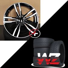 18 inch M Style Wheels w Tires Black Machined Fits BMW 1 2 3 4 Series 128 325