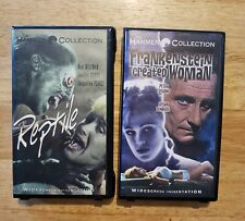 Hammer Horror Frankenstein Created Woman, The Reptile Vhs, Clamshell