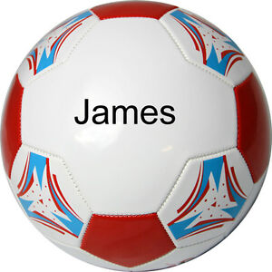 Personalised Football - White/Red/Blue Non Branded