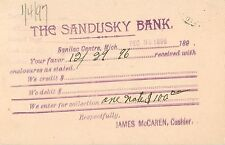 The Sandusky Bank, Sanilac Center MI 1896