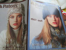 Patons Designer Series Chill Out Knitting Booklet-Hat & Scarf Sets- Ear Flaps- A