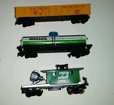 Tyco 3 Vntg Ho Scale cars 346 Floodlight ~ 315K Wesson Oil ~ X159 Maintenance