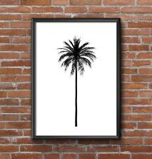 INSPIRATIONAL MOTIVATIONAL PALM TREE MONO  A4 POSTER PRINT WALL ART