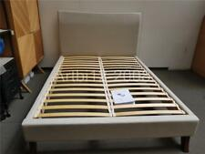 John Lewis Lincoln Low End Bed Frame, King Size, Naomi Linen RRP£1050 (2463)