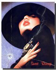 Sweet Revenge Vogue Woman with Gun Beauty Fashion Wall Decor Art Print (16x20)