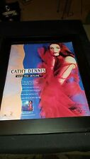Cathy Dennis Into The Skyline Rare Original Promo Poster Ad Framed!