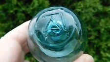Vintage Genuine Japanese Glass Float W/ Mark On Seal Button