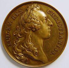 Louis XV HISTORIQUE médaille franco-hongrois Alliance 1756-Moderne restike