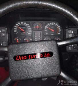 1 Adesivo mostrina clacson volante Fiat Uno Turbo ie mk1 restauro claxon horn