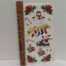 Christmas Santa Snowman Stocking Holly SCRAPBOOKING Stickers by Me & My Big Idea