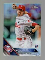 2016 TOPPS CHROME AARON NOLA RC REFRACTOR #114 PHILLIES