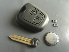 Repair KIT for Peugeot Partner 2 button remote key case shell switches & battery