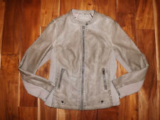 NWT Womens SEBBY COLLECTION Taupe Faux Leather Jacket Coat Size XL