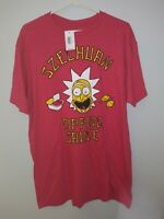 NWT Rick And Morty Szechuan Dipping Sauce T-Shirt Tee Sz Large Red Adult Swim