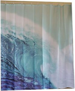 Ocean wave shower curtain new free shipping