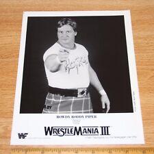 Rowdy Roddy Piper official original 8x10 wcw wwe wwf promo photo 1987
