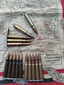 K98 8x57is 5stk + Ladestreifen Originaler Nachlass Deko!! Militaria WK Flak