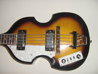 New Left Hand 4 String Violin Bass Electric Guitar Beatle Bass Sunburst