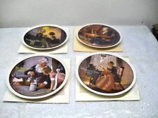 (4) Norman Rockwell Mother's DayCollector Plates. 1979 - 1982 with boxes and COA