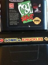 Sonic & Knuckles Cool Spot SEGA GENESIS Retro Cartridge Games Action Adventure