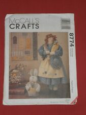"""MCCALL'S Sewing Pattern 8774 19"""" Garden Doll, 10.5"""" x 12"""" Quilt & 8"""" Bunny UNCUT"""