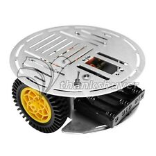 AS-2WD Car Aluminum Mobile Robot Arduino Mobile Platform Car Chassis