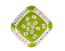 Mah Jongg Design Green Lunch Plate Made of Melamine 8 1/2 inch in diameter *