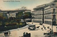 EARLY 1900s VINTAGE ELPHINSTONE CIRCLE BOMBAY POSTCARD - POSSIBLY RACIST MESSAGE