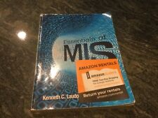 pearson essentials of MiS 11 th edition used rental return business college book