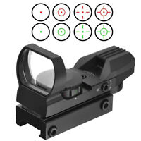 11mm Holographic Red Green Dot Sight Reflex 4 Reticle Tactical Scope Gun Pistol
