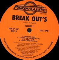 "BREAK OUT'S VOLUME 1 - 9 track 12"" WS EX/ PTX-EP-002 breakbeat deep house 1991"