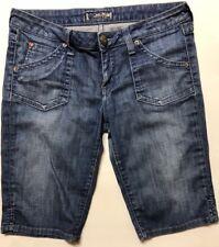HUDSON BERMUDA Jean Shorts Low Rise Flap Pocket Blue Denim Womens Size 26