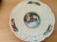 Donegal Parian China 1989 Christmas plate -Santa and child- collectors item