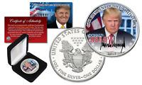 DONALD TRUMP Official President PORTRAIT 2017 1 oz. .999 U.S SILVER EAGLE w/ BOX