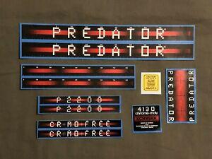 "1983 Schwinn Predator P2200 Cro-Mo Free Atari 20"" BMX Bike Bicycle Decal Set"