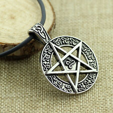 New Pentacle Pentagram Star Nature Alchemist Supernatural Necklace Silver Cord