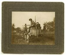 Occupational Cabinet Card Farming Machinery Agricultural Overalls Antique Photo