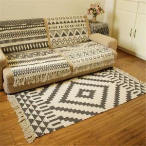 Creat Woven Indian Cotton Tribal Area Rug Floor Mat Boho Decorative Throw Gifts