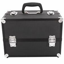 Aluminum Makeup Train Jewelry Storage Box Cosmetic Button Lock Case Organizer