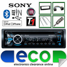 FIAT GRANDE PUNTO SONY MEX-N4000BT CD MP3 USB BLUETOOTH IPHONE KIT RADIO NERO