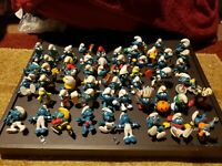 """Lot of 54 Vintage Smurfs 1980s PVC 2"""" Figures Schleich Peyo Toys and others"""